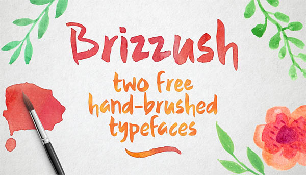 Brizzush - a pair of free hand-brushed typefaces!