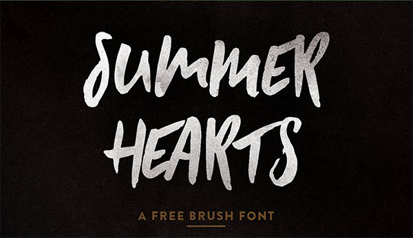 SUMMER HEARTS - FREE FONT