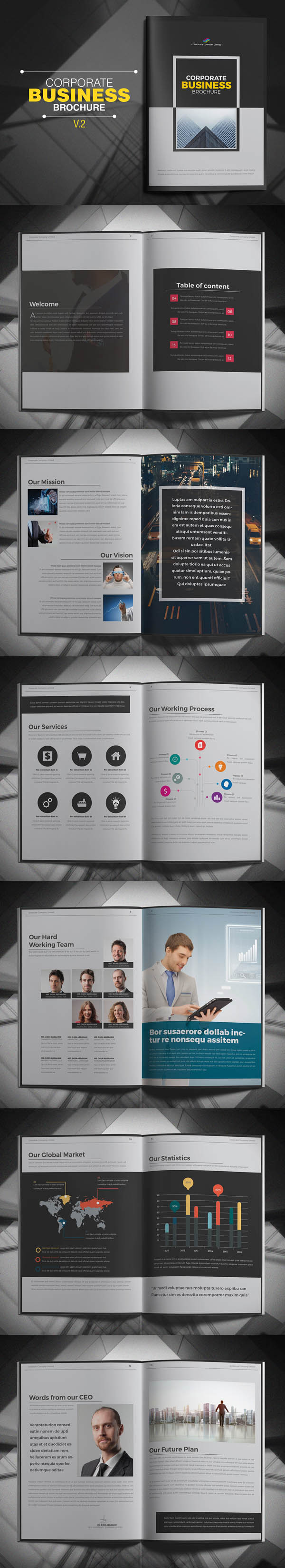 Corporate Business Brochure Design Template