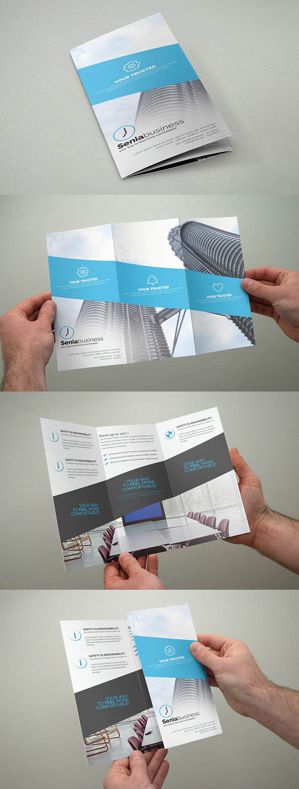 Corporate Trifold Minimal Brochure Design