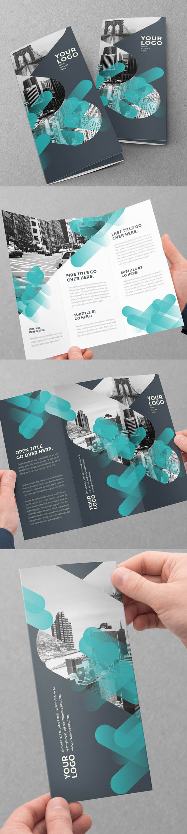 modern brochure design inspiration - 10 best corporate business brochure designs for