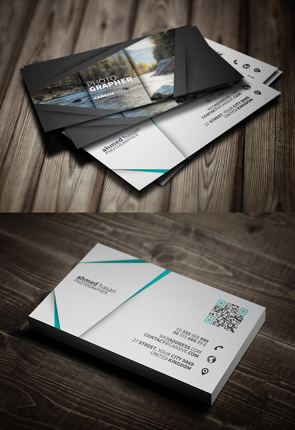 10 best business cards psd templates for designs graphics design free photographer business card template accmission Gallery