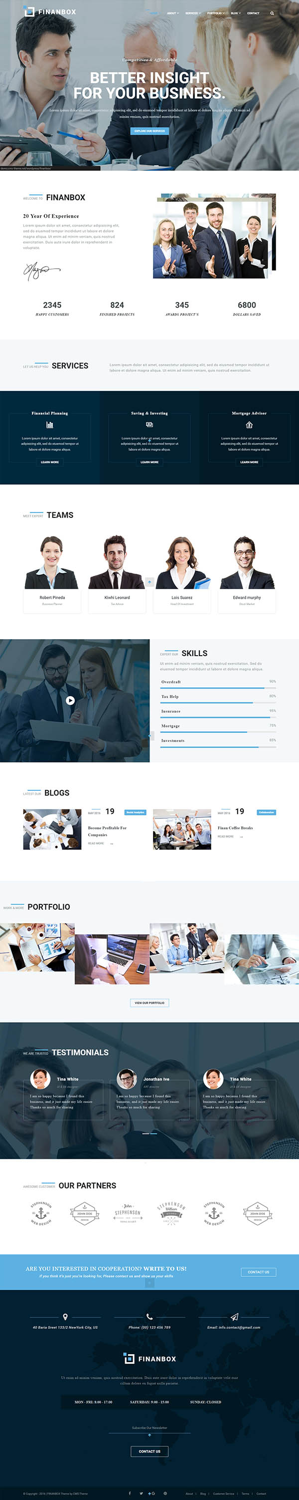FINANBOX – Responsive Multipurpose Business & Corporate Business WordPress Theme