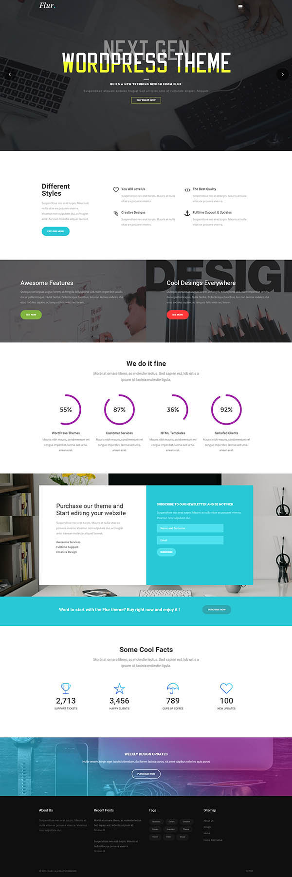 Flur – Creative WordPress Theme