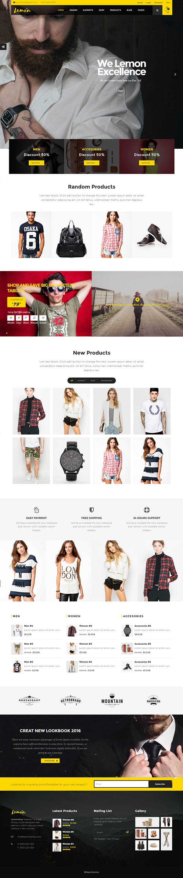 Lemon - A Clean and Smooth WooCommerce WordPress Theme