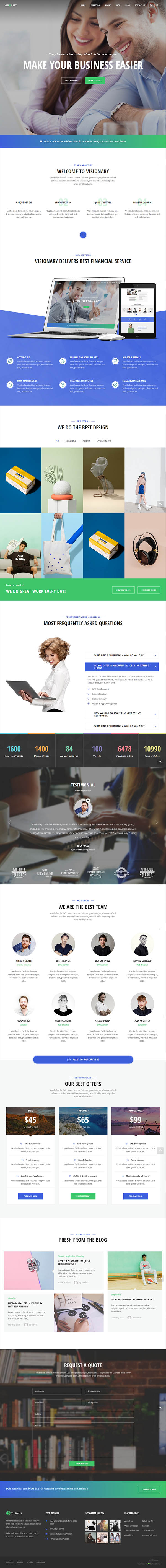 Visionary – Creative Agency Multipurpose WordPress Theme