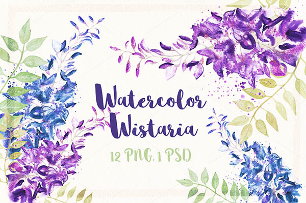 Watercolor Floral Elements for Graphic Designers - 11