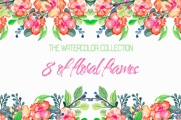 Watercolor Floral Elements for Graphic Designers - 16