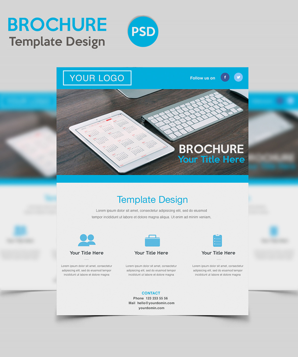 Free PSD Corporate Brochure Template