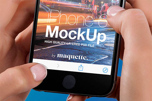iPhone 6 Mockup By Maquette ™