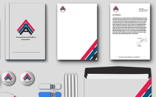 Accountants and Auditors Association Branding Design by Mohamed Shaban