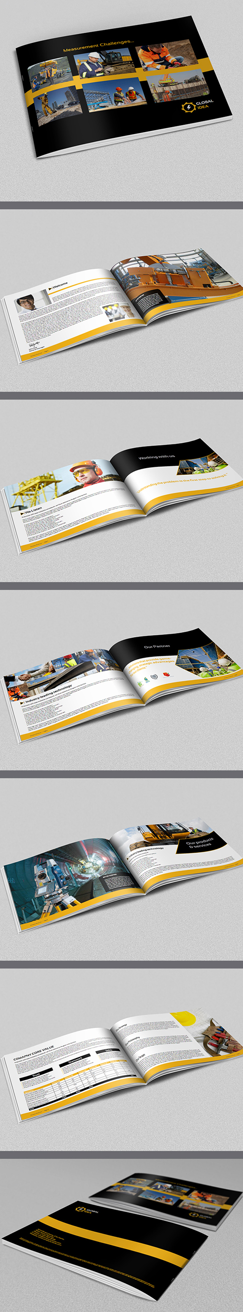 Awesome corporate printable brochure designs graphics for Construction brochure template
