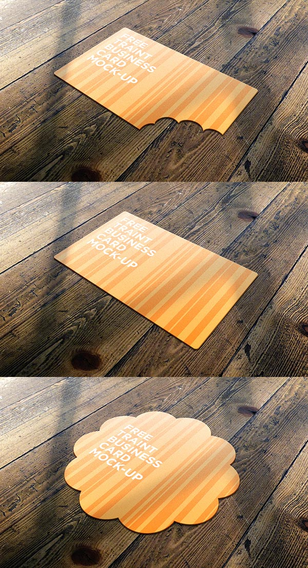 Free Traint Business Card Mock-Up
