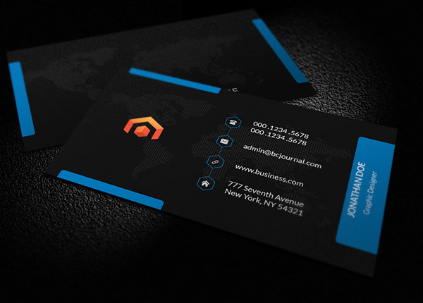 Awesome free business cards psd templates and mockup designs free business card psd template cheaphphosting Choice Image