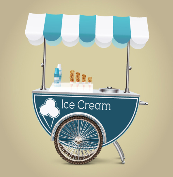 Learn How to Create an Ice Cream Cart in Illustrator Tutorial