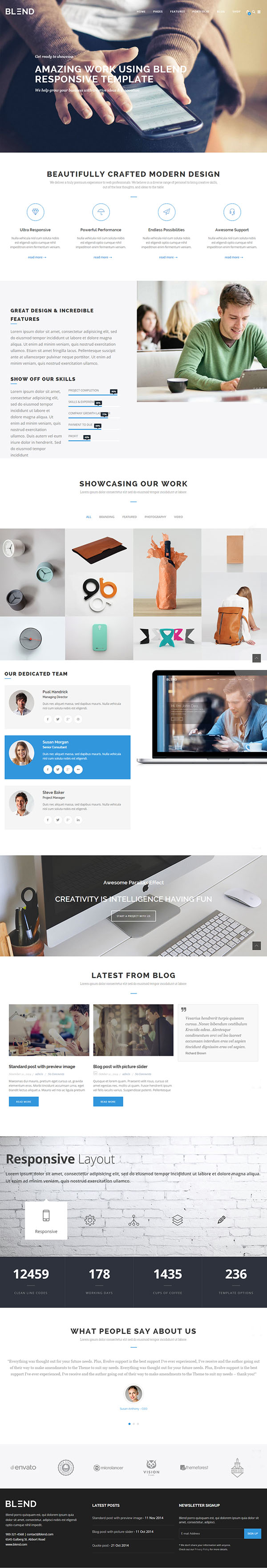 Blend – Multi-Purpose Responsive WordPress Theme