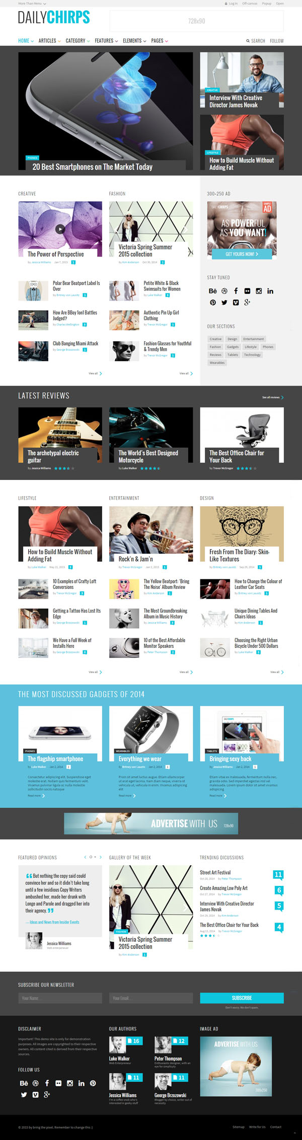Chirps – The Magazine Theme