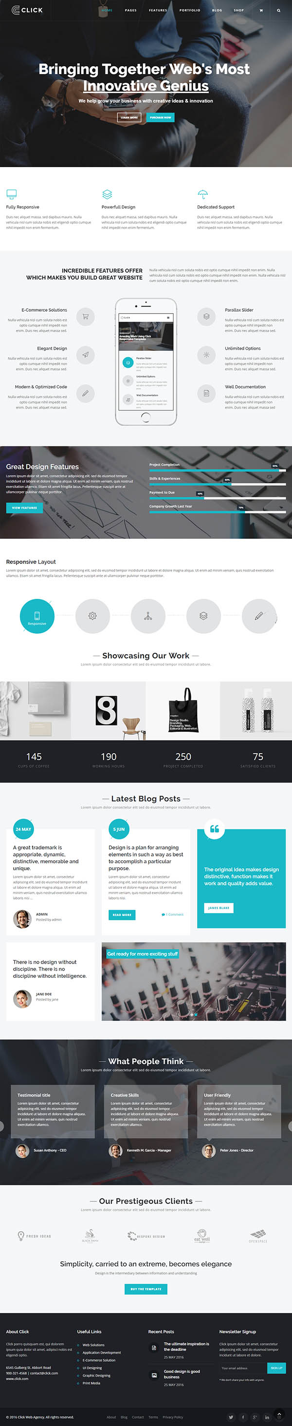 Click – Multi-Purpose WordPress Theme