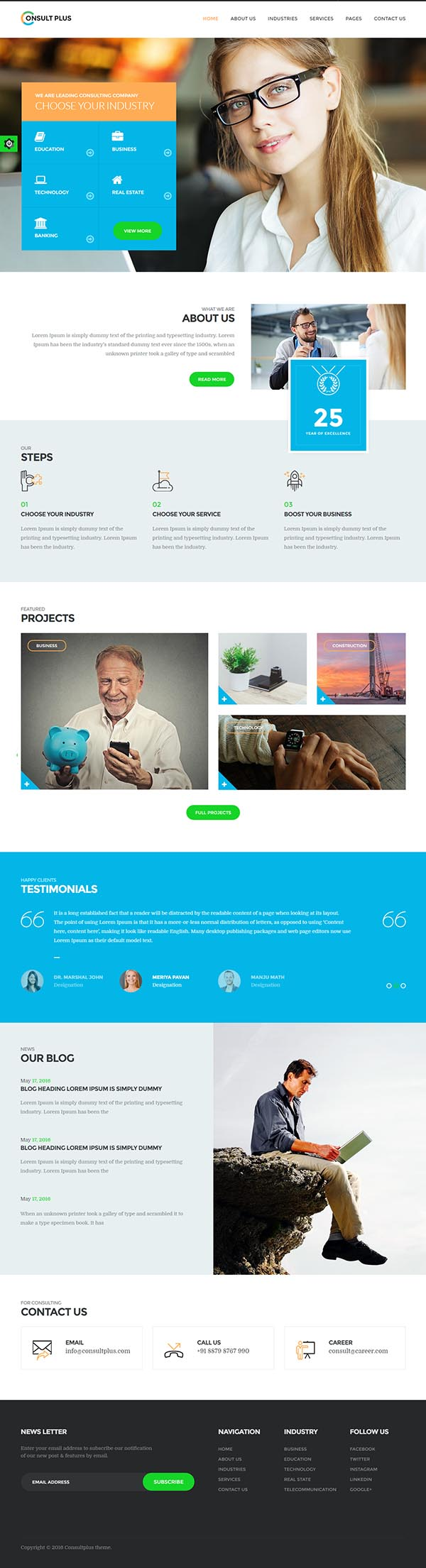Consult Plus : Corporate Business WordPress Theme