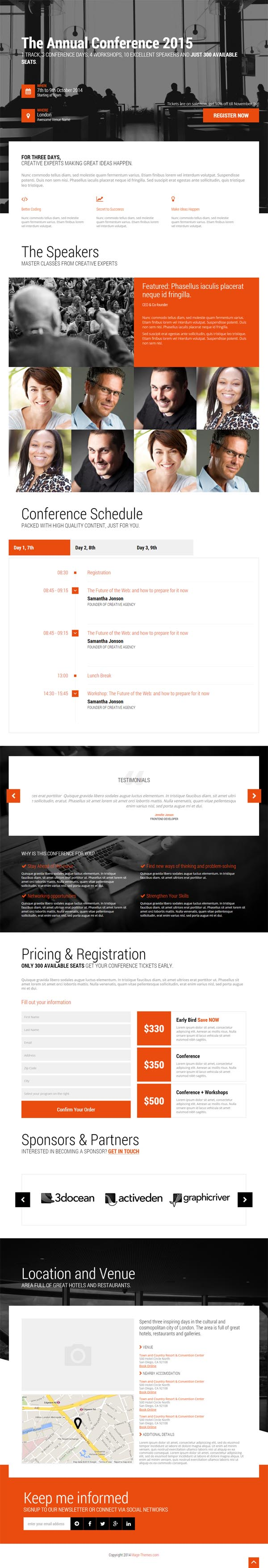 Event – Conference & Event HTML5 Landing Page