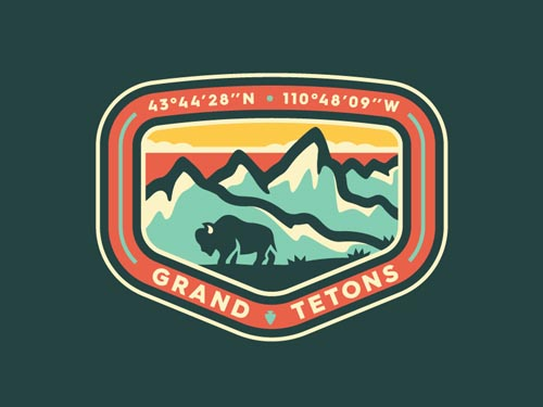 Grand Teton Patch Badge by Noah Revior