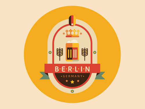 Berlin Badge by Aldo Crusher