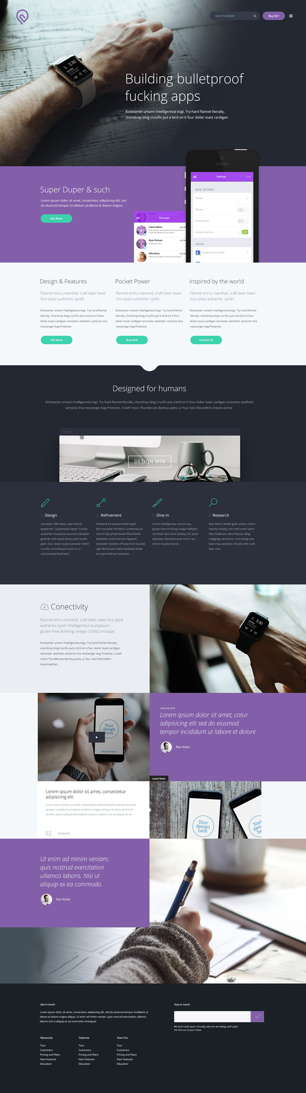 Modern Free PSD Website Template