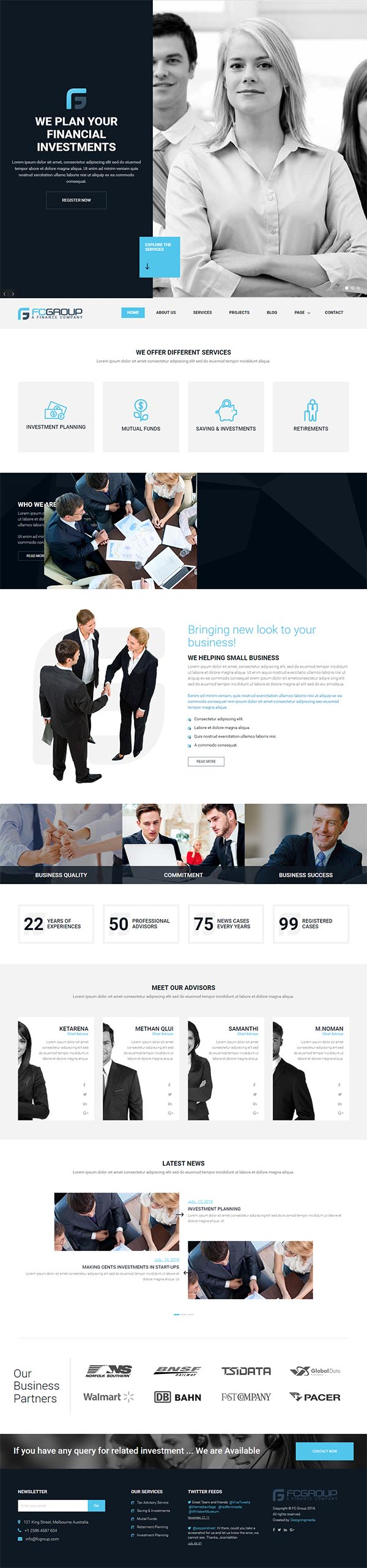 Finance Group – Corporate WordPress Theme