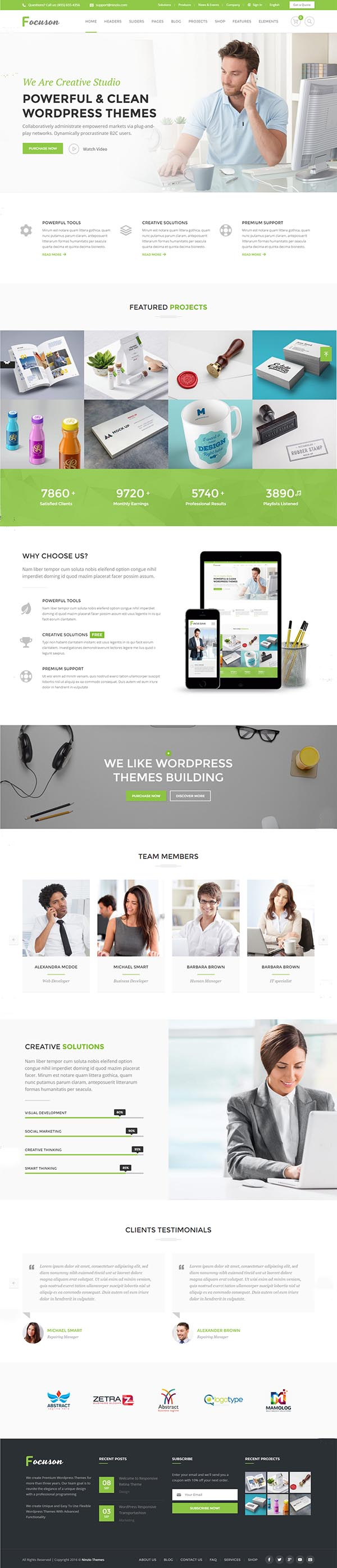 Focuson – Business WordPress Theme