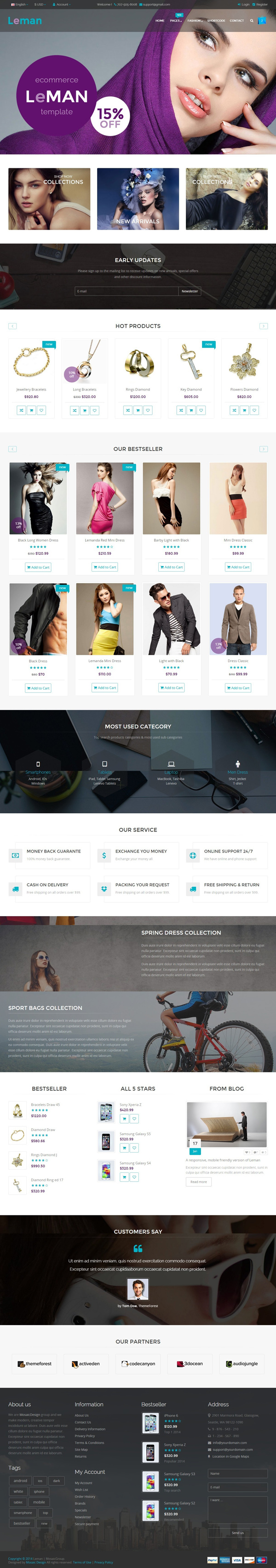 Leman – Responsive E-Commerce Template