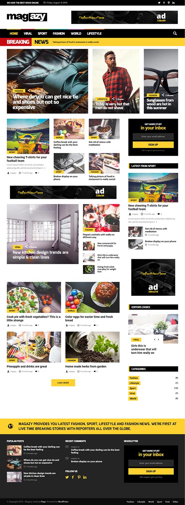 Magazy – Viral, News & Magazine WordPress Theme