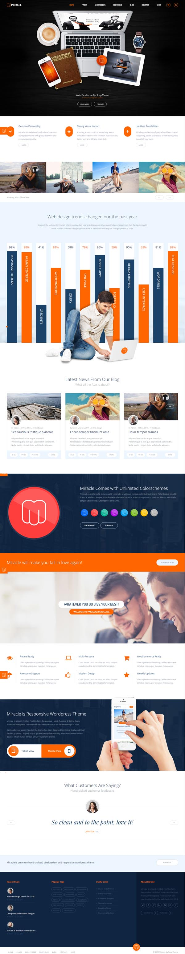 Miracle – Responsive Multi-Purpose HTML5 Template