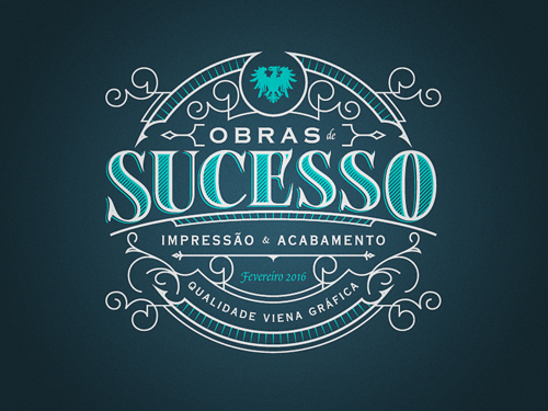 Obras Sucesso Badge Logo by Bruno Cassano
