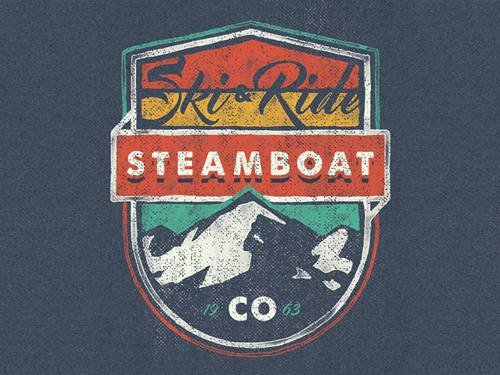 Ski & Ride Badge by Brooks Engel