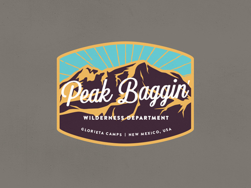 Peak Baggin Patch Badge by Andrew Miller