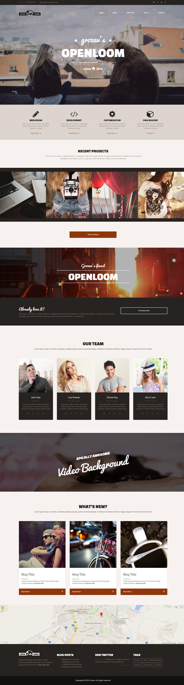 OpenLoom – MultiPurpose Template with Page Builder