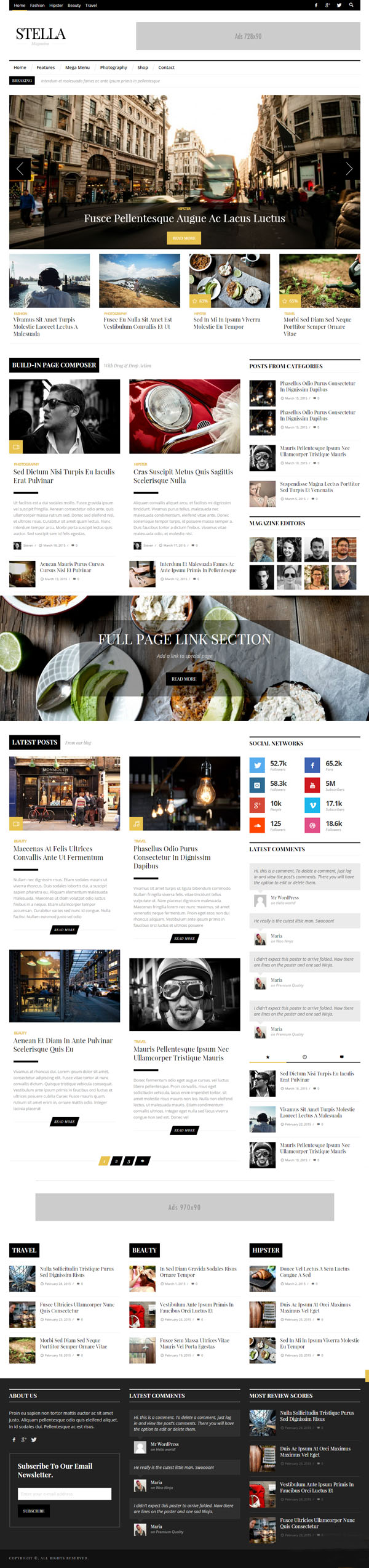 STELLA – Clean Blog/News/Magazine Responsive Theme