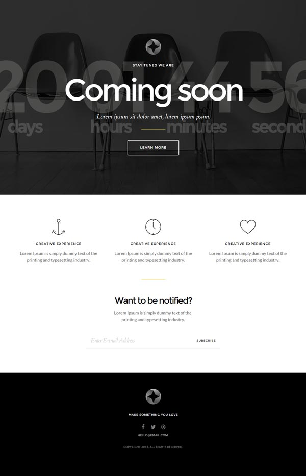 Sirius – Responsive Coming Soon Page