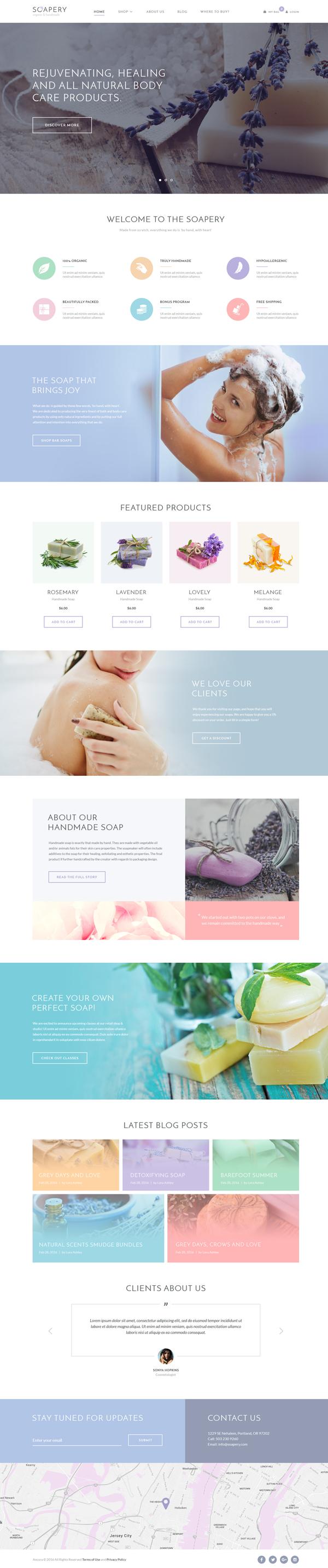 Soapery – Handmade Soap & Handcrafted Products Shop WP Theme