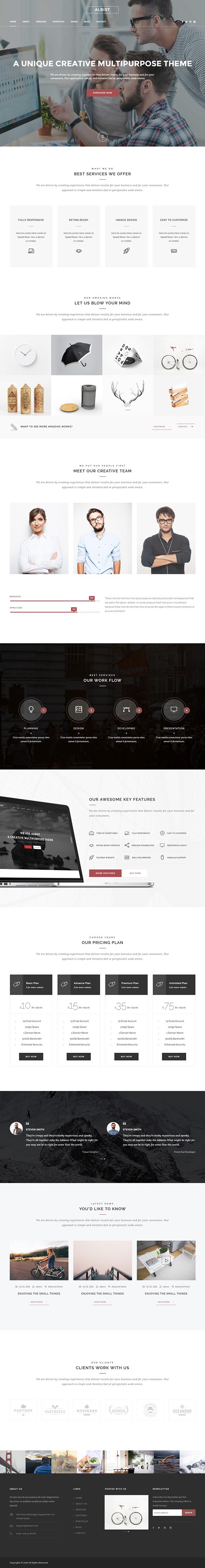 ALBIST – Creative Multipurpose WordPress Template