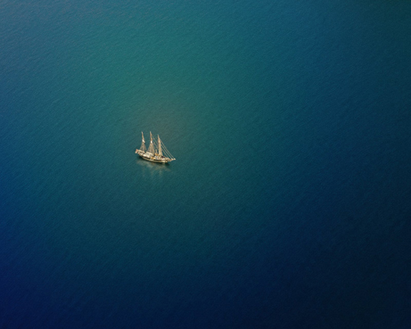 Barque Beautiful Aerial Photo