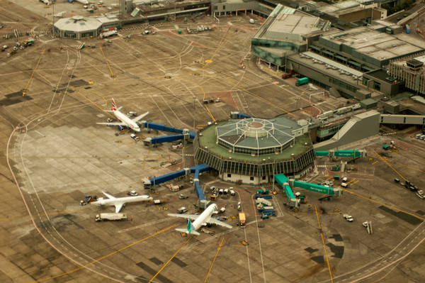 Cabin View of Dublin Airport