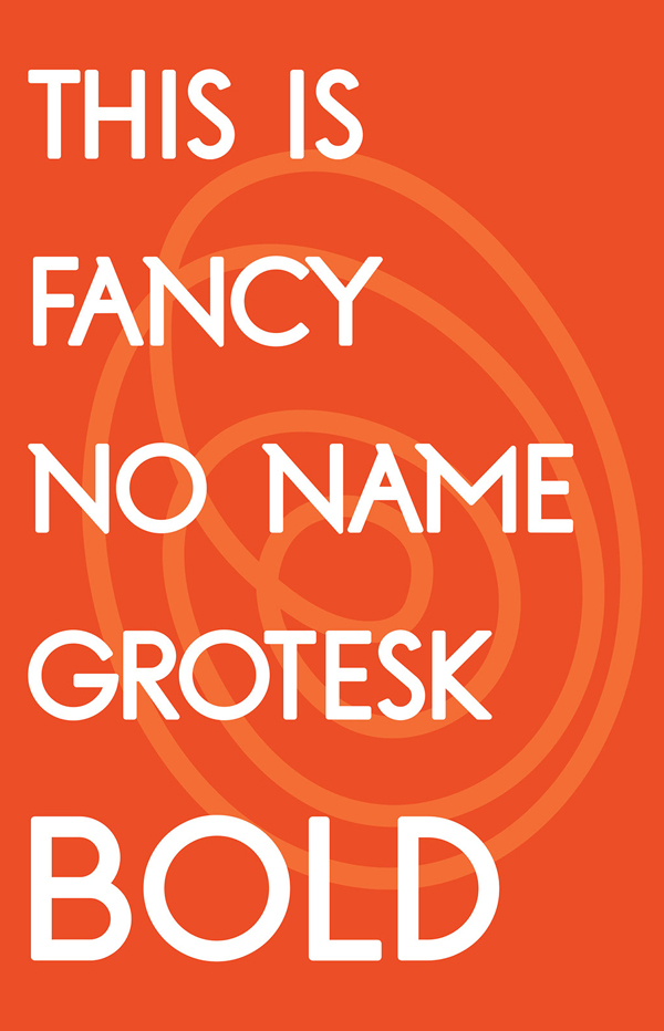 Fancy No Name Grotesk Bold Free Font