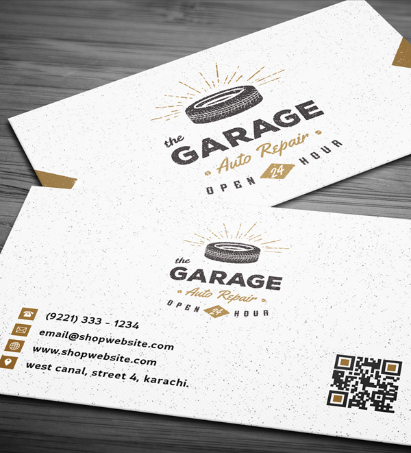 Free Vintage Business Card PSD Template