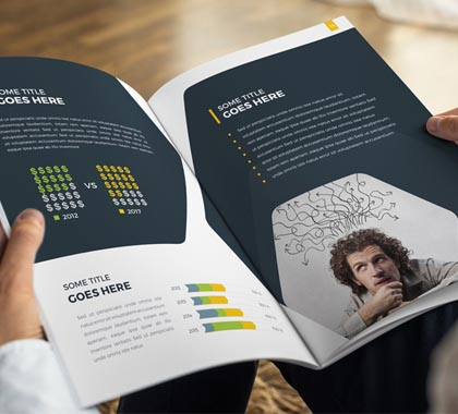 awesome corporate printable brochure designs graphics design