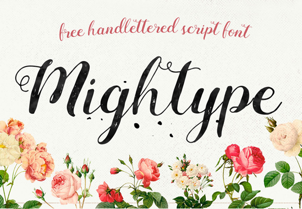 Mightype Script Free Font