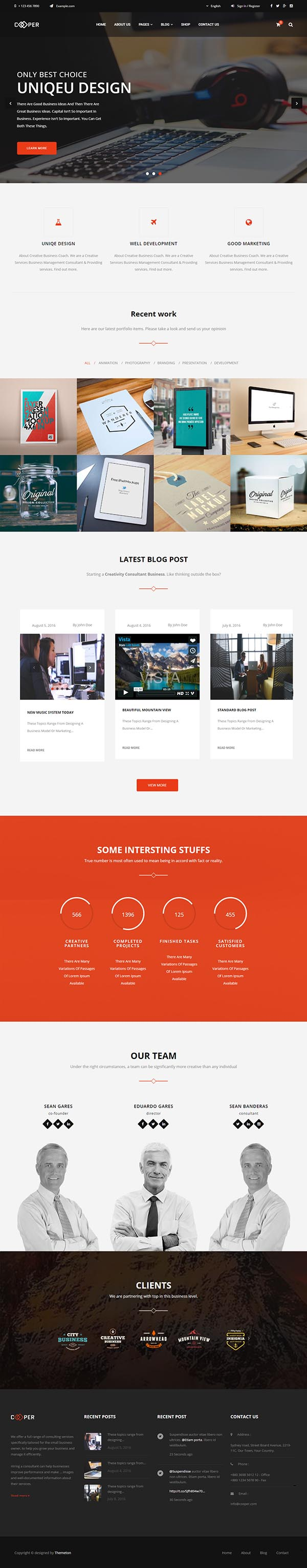 Cooper : Clean Creative Business Theme