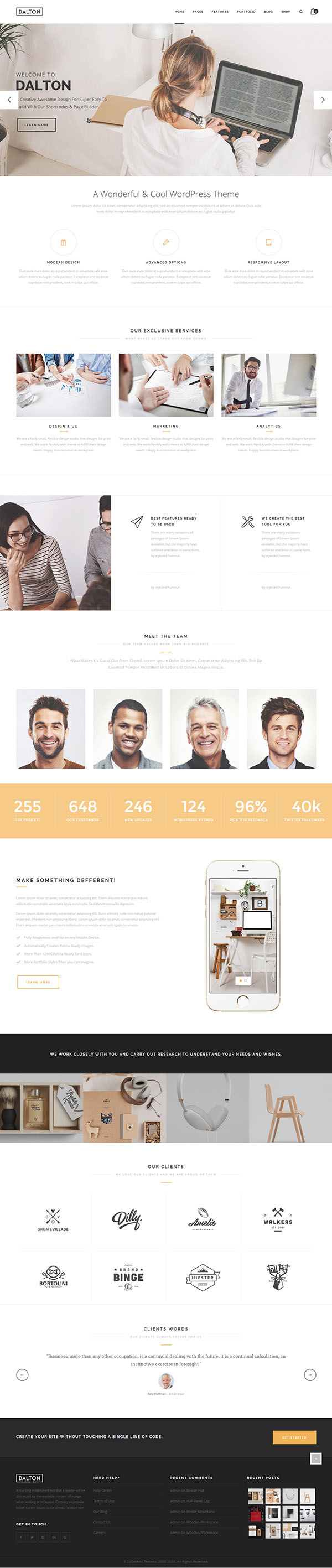 Dalton – Clean Multi-Purpose WordPress Theme