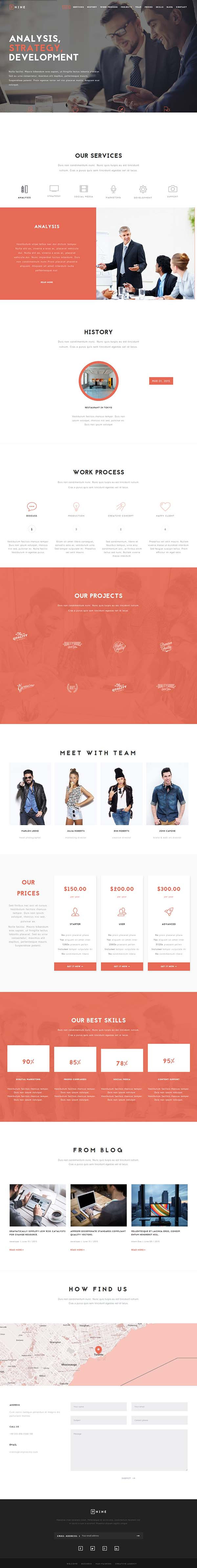 Nine – MultiPurpose One Page Theme
