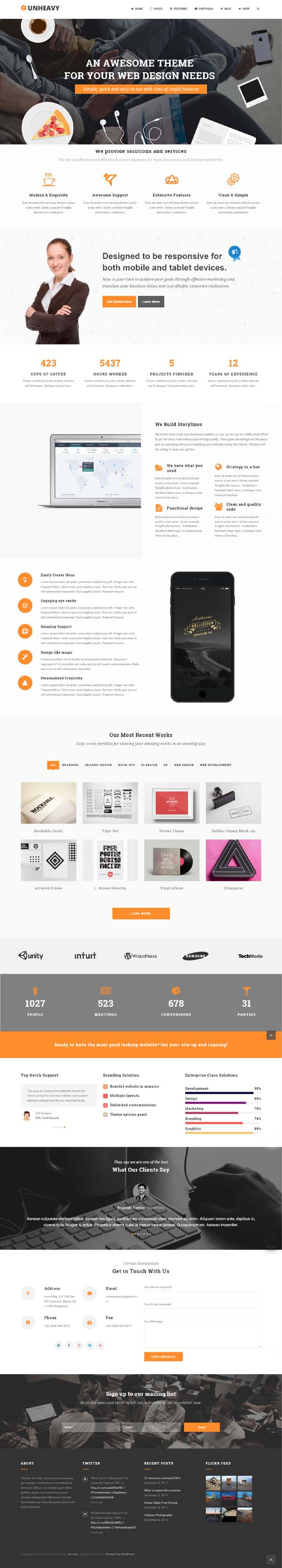 Unheavy – Multi-Purpose Responsive WordPress Theme